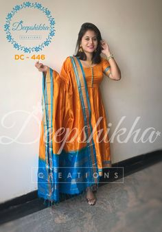 DC Beautiful floor length anarkali dress with pom pom hangings. For queries kindly WhatsApp : 9059683293 Silk Kurti Designs, Salwar Neck Designs, Kurta Neck Design, Kurta Designs Women, Dress Neck Designs, Kurti Designs Party Wear, Saree Blouse Designs, Designer Anarkali Dresses, Salwar Dress