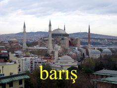 ---------- barış ---------- Barışa bir şans verin. barış içinde Barış Manço ---------- https://www.facebook.com/LaytmotifSprachkalender/ http://www.laytmotif.de Foto: Kirche, Moschee, Museum, Hagia Sophia, #Istanbul ---------- Frieden ---------- Gebt dem Frieden eine Chance. friedlich Barış Manço, türkischer Sänger ----------