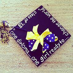 Graduation cap shared by @megtoconnor! #MgoGrad
