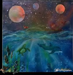 """ Bijoux des Profondeurs "" ( Deep Sea Jewel ) - MayaSunn Deep Sea, Oeuvre D'art, Les Oeuvres, Jewel, Creations, Gallery, Painting, Roof Rack, Gem"