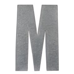 Monogram M Galvanized Metal Plaque | Kirklands