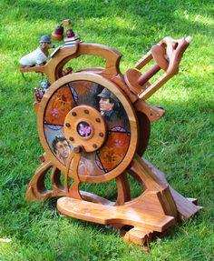 Handmade spinning wherl