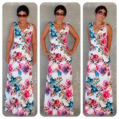 Todays Look: DIY Maxi Dress using NL 6123 Pattern details @ www.mimigstyle.com #DIY #Floral #Maxi
