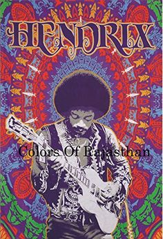 ☮ American Hippie Music Jimi Hendrix poster music artists Nirvana - Alley Poster 24 x with Poster Hanger Psychedelic Rock, Pop Rock, Rock And Roll, Jimi Hendrix Poster, Rock Band Posters, Kunst Poster, Rock Design, Blues Rock, Rock Music