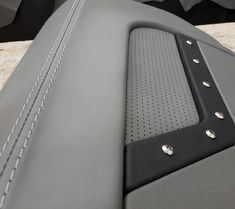 First wrapped panel on the Camaro with in full effect. Custom Car Interior, Car Interior Design, Truck Interior, Boat Upholstery, Automotive Upholstery, Bike Seat, Car Seats, Consoles, C10 Chevy Truck