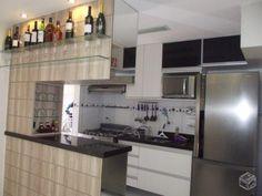 Resultado de imagem para divisoria com armario em cozinha americana de apartamento pequeno