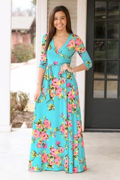 Fit for all occasions maxi dress - Mint – Hazel & Olive