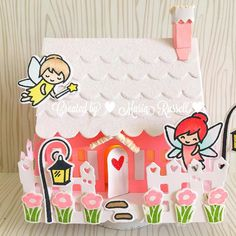Sometimes I love creating #3D #projects so I used @brendawalton #cottage #die with @lawnfawn #fairyfriends #stampset equals #magical I love how this turned out! #stamping #stamps #diecutting #sizzix #brendawalton #lawnfawn #papercrafting #papercrafts #cra