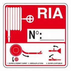 Autocollant RIA avec emplacement numéro 230 x 230 mm