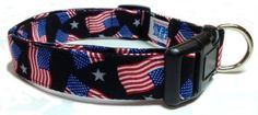"""Adjustable 4th of July Dog Collar (U.S.A. Made) (1000000000064963650) All CritterGear Orders Are Shipped Within 24 Hours Large Collar Length/Neck Size: 14-22"""" Inches Long Large Collar Width: 1"""" Inch Wide Average Doge Size Weight Wearing Large Collar: 40-85 lbs Our strong yet fashionable dog collars will make your pet stand out and be the talk of the town. Whether you are looking for a fun, everyday pattern, or a Holiday specific pattern, we have many options to choose from. CritterGear ..."""