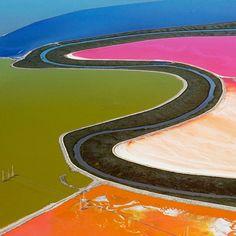 salt ponds ... San Francisco .  ........ CALIFORNIA