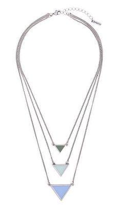 Aqua Points Necklace