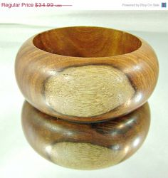 HOLIDAY SALE Vintage Wood Bracelet Curly Maple and Birch