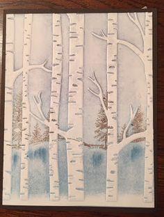 Stampin Up, Woodland Embossing Folder, holiday,
