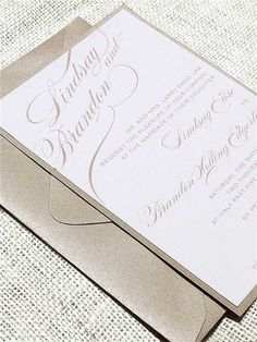 Wedding Invitations Photos on WeddingWire - love the gold