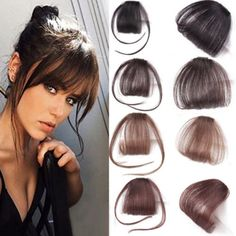 New Thin Air Neat Wispy Bangs Real Remy Human Hair Clip In Fringe Front Hairpiece Air Bangs Remy Human Hair Extensions Clip Fringe Hairstyles, Hairstyles With Bangs, Diy Hairstyles, Short Hair With Bangs, Hair Bangs, Bangs Hairstyle, Wispy Bangs, Fringe Bangs, Wavy Hair