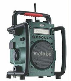 http://amzn.to/2gCUbZ2 Metabo Akku-Baustellenradio RC 14.4-18V / robustes Outdoor Radio mit Ladefunktion für Li-Power Akkupacks oder Netzbetrieb / Akku Betrieb bis zu 31 Stunden / spritzwasserfest & funktional