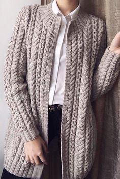 Ladies Cardigan Knitting Patterns, Knit Cardigan Pattern, Vest Pattern, Crochet Cardigan, Knitting Patterns Free, Only Cardigan, Sweater Cardigan, Cardigans For Women, Pulls