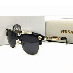Frame Material: Metal/PlasticLenses Material: PC World Wide Shipping- FREE ( Please note - international shipping weeks) Donatella Versace, Gianni Versace, Black Women Fashion, Womens Fashion Online, Look Fashion, Sunglasses Accessories, Sunglasses Women, Fashion Accessories, Chanel Sunglasses