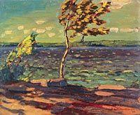 MacDonald, J. E. H. - Jour de vent, lac Little Turtle - Musée des beaux-arts du Canada, Ottawa