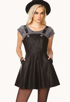 i want this!!!! Rebel Darling Overall Dress | FOREVER21 - 2000072622