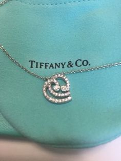 """Tiffany & Co Diamond Heart Platinum Pt 950 Pendant / Necklace 16"""". Get the lowest price on Tiffany & Co Diamond Heart Platinum Pt 950 Pendant / Necklace 16"""" and other fabulous designer clothing and accessories! Shop Tradesy now"""