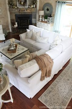 How to Make a Sectional Slipcover | Confessions of a Serial Do-it-Yourselfer