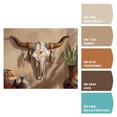 Southwestern decor and furniture, also known as Southwest decor, echo serenity and simplicity. Bull Skulls, Cow Skull, Animal Skulls, Skull Art, Longhorn Skulls, Deer Skulls, Southwestern Decorating, Southwest Decor, Southwest Style