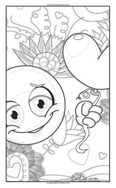 Emoji Love Fun Adult Coloring Book And Teens Coloring Book 30 - mini coloring pages for adults