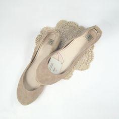 Blush Nude Rose Smoke Soft Leather Handmade Ballet by elehandmade