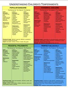 True Colors Personality, Personality Chart, Types Of Intelligence, Emotional Intelligence, Phlegmatic Personality, Types Of Temperament, Mbti Charts, Christian Parenting, Therapy Activities