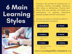 There are six main learning styles. check out other learning and development information on our site. Learning People, Core Competencies, Learning Styles, Counseling, Behavior, Maine, Coaching, Knowledge, Success