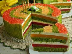 """Kolorowy tort inspirowany ciastem o nazwie """"Leśny mech"""", który swój piękny, zielony kolor zawdzięcza szpinakowi. Jeżeli ktoś jeszcze nie robił to na prawdę wart jest spróbowania. W moi…"""