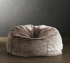 Restoration Hardware s Grand Luxe Faux Fur Bean Bag Chair - Lynx A wrap of  sumptuous luxury faux fur updates this relaxed icon. 9358fed3495a5