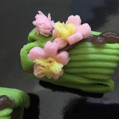 Japanese sweets. Spring letter.「春便り」青山菊家製