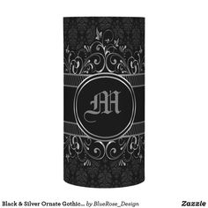 Black & Silver Ornate Gothic Monogrammed Flameless Candle Flameless Candles, Led Candles, Christmas Card Holders, Christmas Cards, Decorating Your Home, Black Silver, Keep It Cleaner, I Shop, Gothic