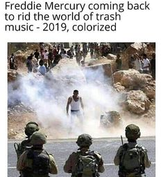 Freddie Mercury coming back to rid the world of trash music - colorized - iFunny :) Funny Memes About Work, Work Memes, Beatles, Queen Meme, Queen Freddie Mercury, Freddie Mercury Meme, Queen Band, Killer Queen, Music Memes