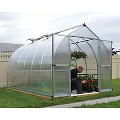 The Bella is a beautifully designed, practical 8 ft wide greenhouse. It features virtually unbreakable Twin-Wall Polycarbonate panels, for an ideal combination of sunlight diffusion, heat insulation, and safety for all your gardening needs. This bell shaped greenhouse was specifically designed to improve wind resistance and allow snow to easily slide off.