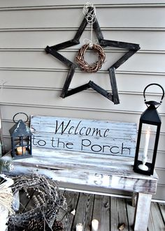 """Down to Earth Style: """"Welcome to the Porch"""" Sign"""