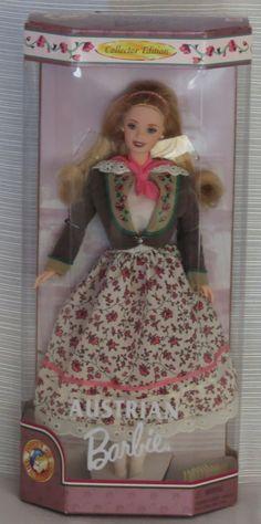 Agtoyland - Barbie Doll of The World Austrian Doll, $39.99 (http://www.agtoyland.com/barbie-doll-of-the-world-austrian-doll/)