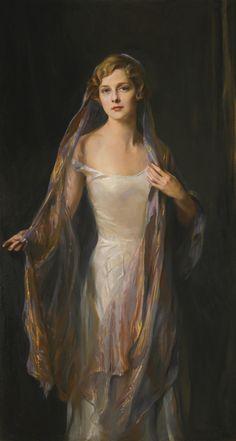 Philip Alexius de László (1869-1937), Portrait of Edith Hope Iselin (1930