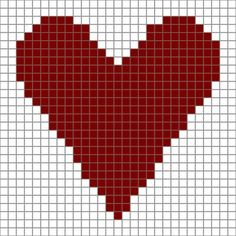 Free Printable Heart Chart for Crochet or Needlecrafts: Free Printable Heart Chart, With Ideas for Crocheting This Heart Design