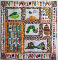 Inspiration. Picture only. No pattern This one best shows the growth cycle and counting aspects of the book.  The Very Hungry Caterpillar