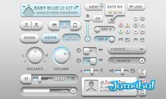Elementos Interface de Usuarios en PSD estilo Bebé