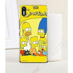 Divertida Carcasa plástica diseño Los Simpson para Aquaris X5