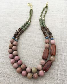 Pretty Palettes August - necklace designed by Molly Schaller