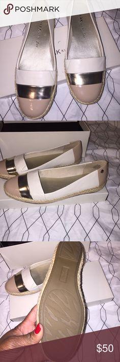 Anne Klein flats Neutrals tan gold cream brand new flat shoe Comfortable stylish fun shoe Anne Klein Shoes Flats & Loafers