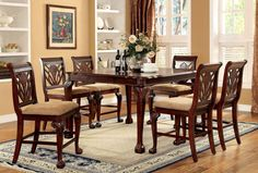 Counter Ht. Table With 6 Chairs 7 Pc. Petersburg Ii Collection