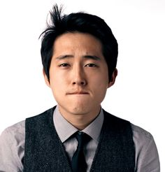 "Steven Yeun from ""The Walking Dead"". I love, love, love him on the show. If his character gets eaten by zombies, I will never watch the show again. I mean it."