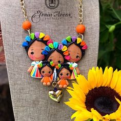 Sculpey Clay, Polymer Clay Charms, Fabric Jewelry, Clay Jewelry, Art N Craft, Love Craft, Mexican Paintings, Arts And Crafts For Teens, Biscuit